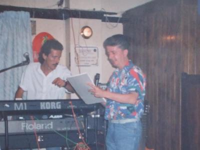 As Karaoke star 'Jimmy Tinsel' - Ibiza 1990.JPG